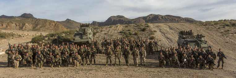 Spanish Legionnaires and U.S. Marines train together